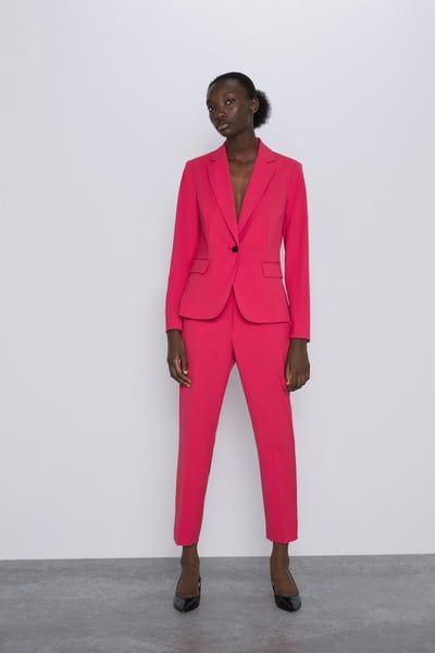 Fuchsia Womens Pant Suit