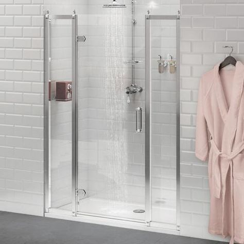 Features 8mm Safety Glass 3m Easy Clean Coating Aluminium Construction Can Be Installed With Or Without Chrome Ball Header Reversible Wetroom Compatible S