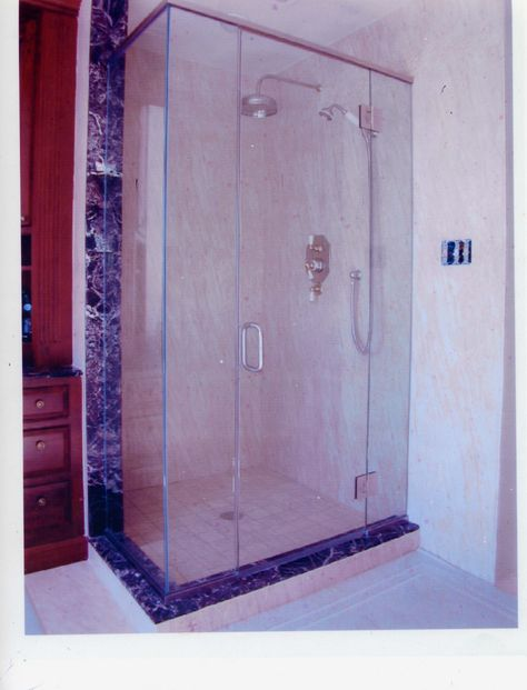 The Coziness And Comfort Of A Box Shower Leave A Comment On The Glass Option In This Pin Jessup Md Hutchison Glass Mirror Glass Shower Doors Shower Doors