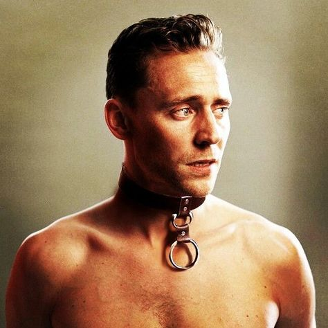 Tom Hiddleston - okay so what's up Tom? This is the second time you've played a character that has had a collared chain on his neck (Loki in TDW).