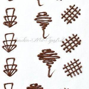 Schokoladen Ornamente Rezept Rezept Schoko Deko Schokolade Kuchen Dekorieren