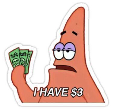 'patrick star meme' Sticker by vivienne G - Stickers . - 'patrick star meme' Sticker by vivienne G – Stickers … - Stickers Cool, Red Bubble Stickers, Meme Stickers, Snapchat Stickers, Tumblr Stickers, Phone Stickers, Star Stickers, Printable Stickers, Cute Laptop Stickers