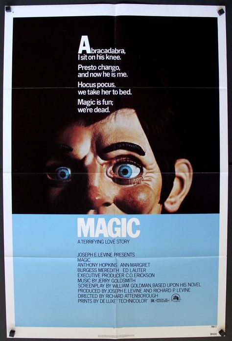Magic (1978) One-Sheet Movie Poster - Original Film Art - Vintage Movie Posters