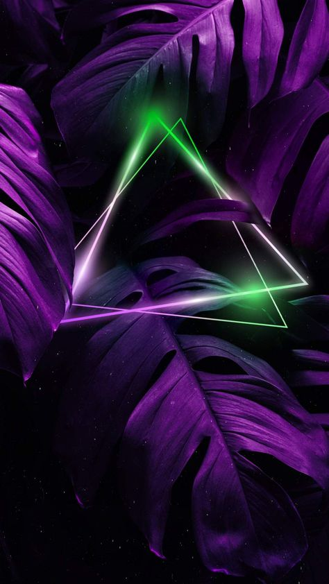 Nature Triangle Neon iPhone Wallpaper - iPhone Wallpapers