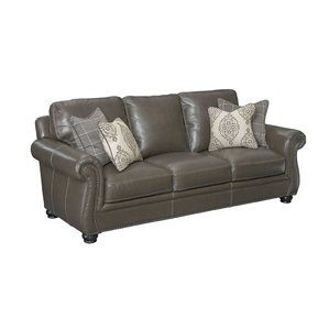 Mariela Leather Sofa by Darby Home Co Best Reviews | Living ...