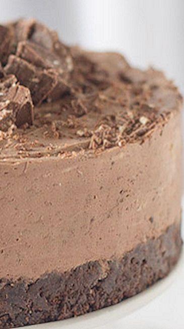Gluten Free Toblerone Cheesecake - Use Trader Joe's GF Joe Joe's chocolate wafers! Yes, Toblerone is gluten free! One of my personal favorites!~GF Cheryl~