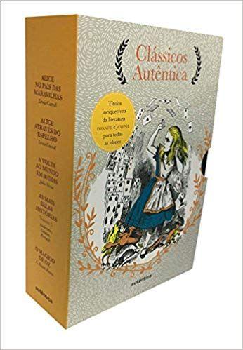 Caixa Classicos Autentica Vol 3 Alice No Pais Das Maravilhas