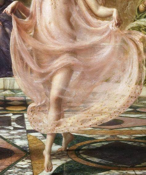 renaissance art suonko: Edward John Poynter - The Ionian Dance [detail] Renaissance Kunst, Renaissance Paintings, Harlem Renaissance, Renaissance Jewelry, Angel Aesthetic, Aesthetic Art, Princess Aesthetic, Aesthetic Painting, Victorian Art