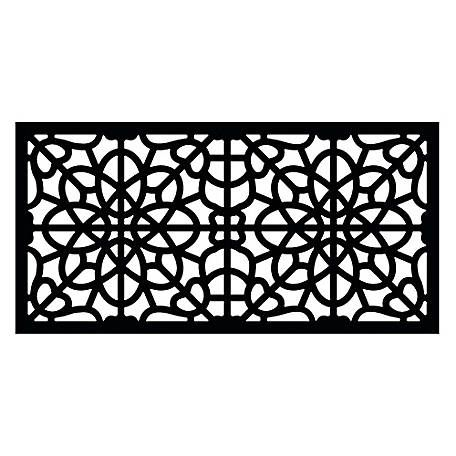Freedom Decorative Screen Panel 2 Ft X 4 Ft Fretwork Black 73004786 At Tractor Supply Co Decorative Screen Panels Decorative Screens Vinyl Railing