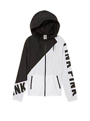 Victoria/'s Secret Pink Jacket Full Zip Windbreaker Long Sleeve Casual Nwt New Vs