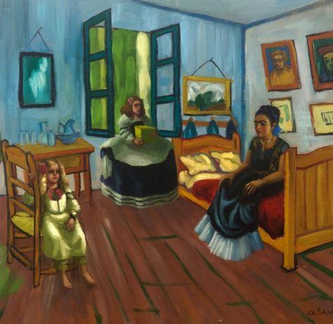 Frida Meninas in bedroom:sq