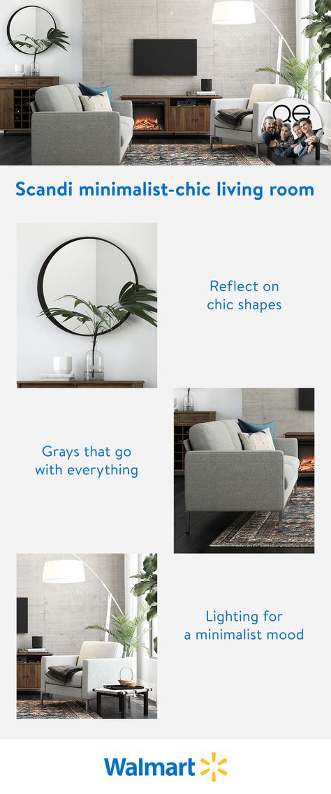 From modern industrial lamps, to chic round mirrors and comfy gray sofas, give life to your living room decor with the new Queer Eye furniture line, exclusively at Walmart.