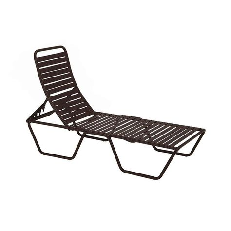 Tradewinds Milan Java Commercial Patio Chaise Lounge HD