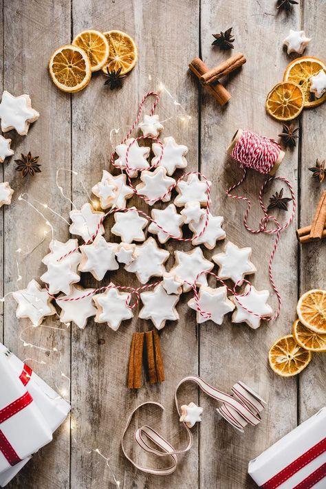 Zimtsterne Biscotti Di Natale Alla Cannella Zimtsterne Cinnamon Star Cookies