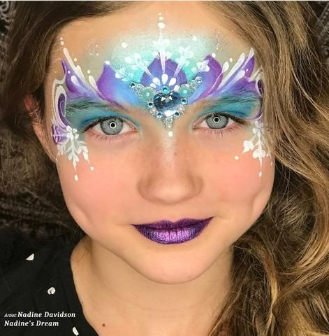 The Ultimate Frozen Face Painting Guide Princess Face Painting Princess Face Fairy Face Paint