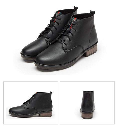 4f40e2541b3d JiYe Women s Shoes Leather Zipper