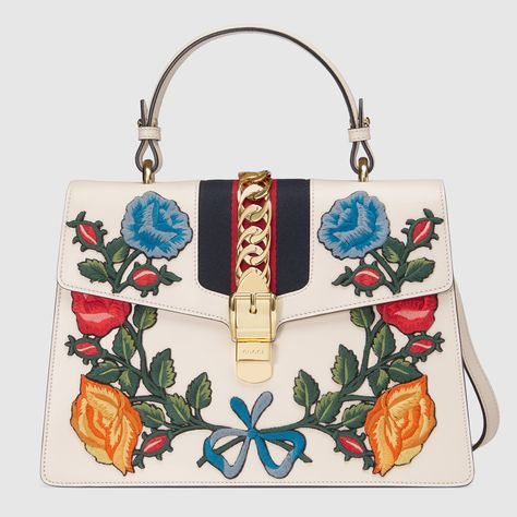 Sylvie medium top handle bag - Gucci Women s Top Handles   Boston Bags  431665CVL6G8406 d12410a63613