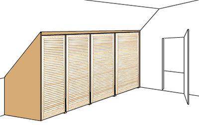 Bauanleitung Fur Einen Geraumigen Dachschragenschrank Mit Bildern Dachschragenschrank Schrank Dachschrage Dachschrage