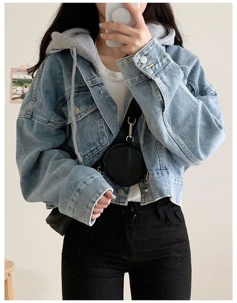 denim jacket outfit aesthetic