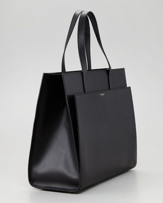 Saint Laurent Flat Shopping Tote Bag Black Bergdorf Goodman Shopping Tote Bag Tote Bag Leather Black Tote Bag