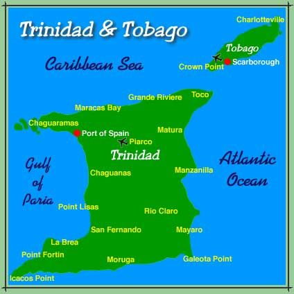3 This Is A Map Of The Caribbean Islands Of Trinidad And Tobago