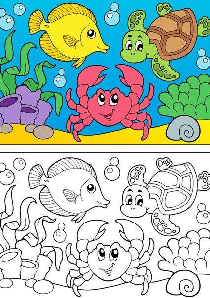 Desenhos Animais Marinhos Para Colorir Desenho De Crianca