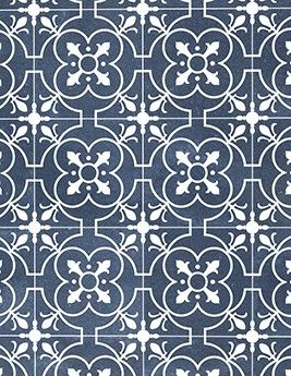 Sol Vinyle Texas Aspect Carreau De Ciment Bleu Rouleau 4 M En