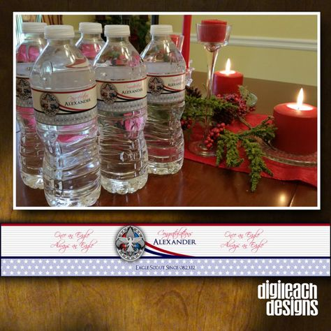 Eagle Scout Court of Honor Water Bottle Label: by DigileachDesigns