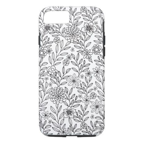 Floral Doodles Coloring Case Mate Iphone Case Zazzle Com Floral Doodle Doodle Coloring Pretty Phone Cases