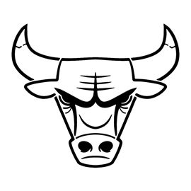 Nba Chicago Bulls Logo Stencil In 2020 Chicago Bulls Logo Bull