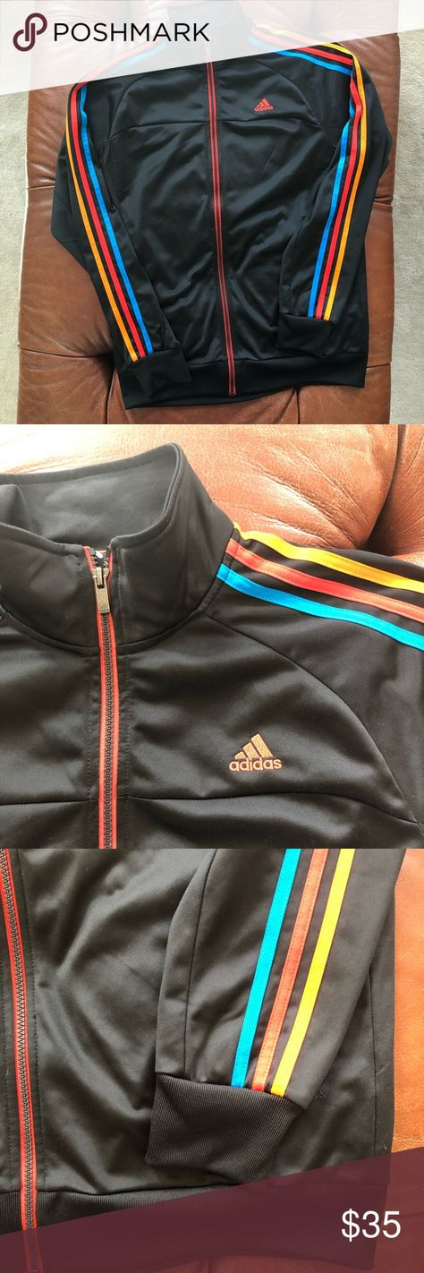 Adidas Track Jacket Three Stripe Climalite Full Zi | Adidas
