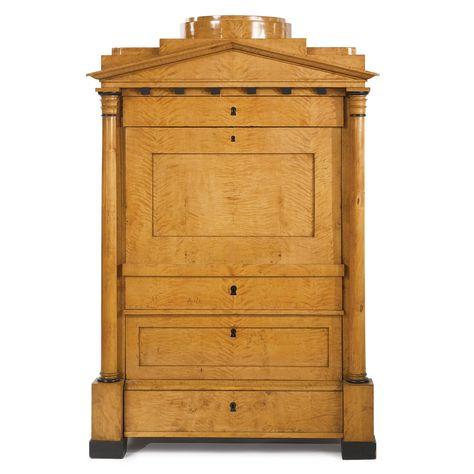 C1820 A German Neoclassical Birchwood And Ebonized Secretaire A Abattant Circa 1820 Estimate 6 000 9 000 Usd Lot Sold 6 2 Biedermeier Mobel Biedermeier