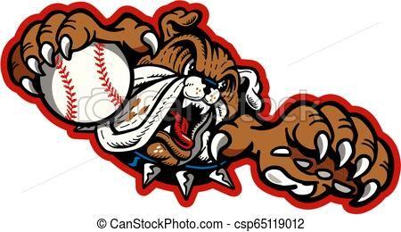 Bulldog Baseball Vector Stock Illustration Royalty Free Illustrations Stock Clip Art Icon Stock Clipart Icons Logo L Baseball Vector Vector Art Art Icon