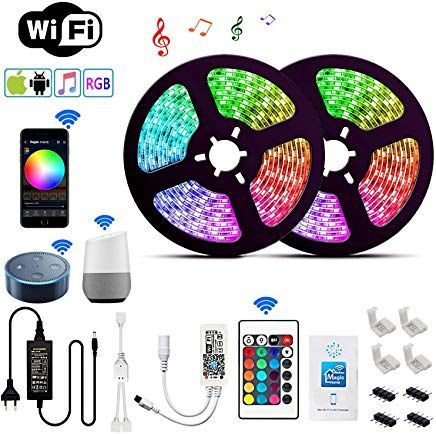 Led Strip 10m Google Home Goklug Led Strip Alexa Streifen Led Band Fernseher Led Lichterkette Musik Sync Band Leiste Profil Led Streifen Dimmbar Ip65 Led Band R Led Alexa Led Strip