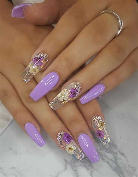 Day Flowers and Embellishments Nail Art - NAILS Magazine - Nail Design Ideas, Gallery of Best Nail Designs