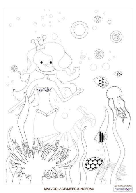 Meerjungfrau Malvorlage kostenlos ausdrucken ...