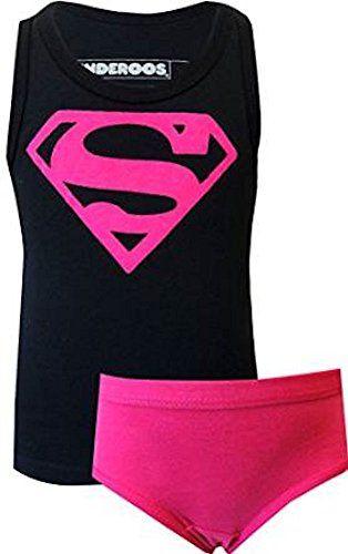 Underoos Girls Supergirl Superman Underwear Tank Set