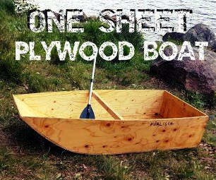 One Sheet Plywood Boat Bench House Design