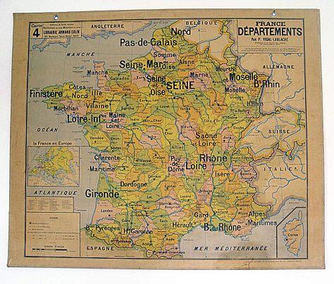 Carte Vidal Lablache N 4 France Departements Carte De France