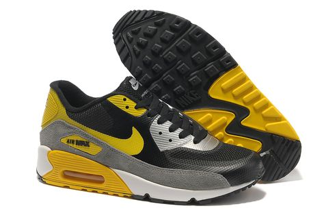 42ae5dcada61 Nike Air Max 90 Hyperfuse Black Yellow 333888 773