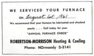 Company History Robertson History Morrison