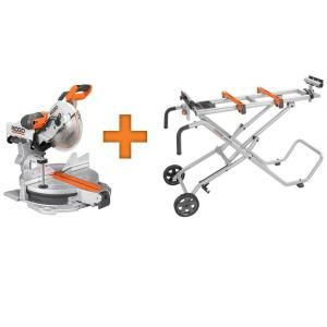 RIDGID 12 in. Sliding Compound Miter Saw with Free MSUV-MS1290LZA-AC9945 at The Home Depot