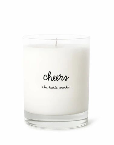 Express your cheer with a candle made for celebration.