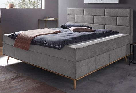 Places Of Style Boxspringbett Padise Mit Massivholzrahmen
