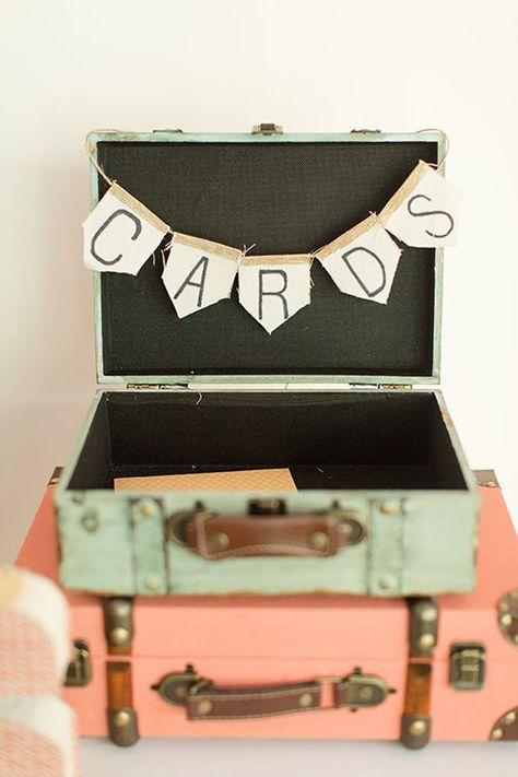 Bridal Suitcase Art Ideas Pinterest