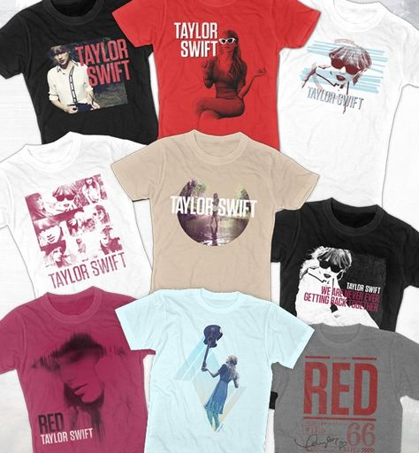 Taylor Swift red t-shirts