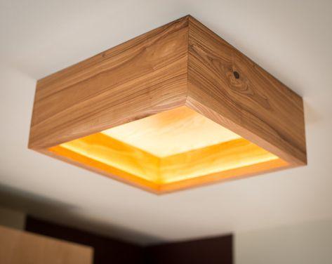 Lampe En Bois Boite 2 A La Main Bois De Frene Lampe De Plafond Lampe En Bois Luminaire Suspendu Lampe Lampen Houten Kroonluchter Betonnen Lamp