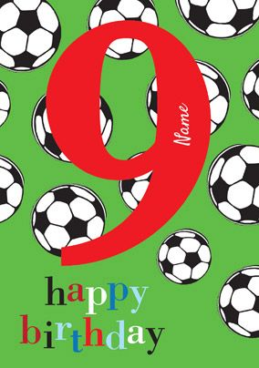 Abacus Nine Year Old Birthday Card Footy Mad 9 Today Funky Pigeon Happy Birthday Cards Printable Old Birthday Cards Birthday Cards