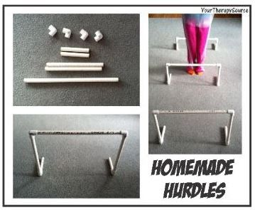 PT Activity of the Week: Homemade Hurdles - Pinned by @PediaStaff – Please Visit ht.ly/63sNtfor all our pediatric therapy pins