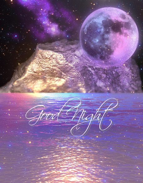Beautiful Color Moon Good Night Animated Image night good night good night quotes good night images